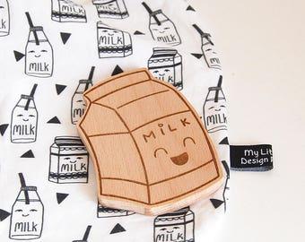 Machouillable Timothy _ natural wooden brick milk