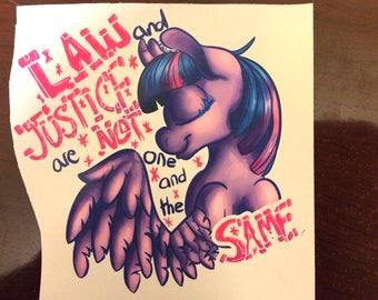 Revolutionary Pony Stickers - Twilight Sparkle