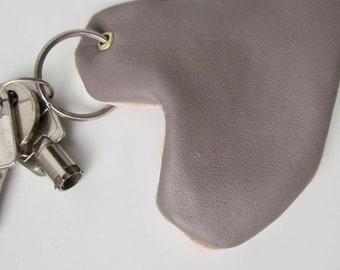 Key chain / leather fabric patterns drops Lina Moratta chiffon heart bag charm