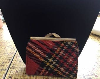 Small Red and Green Plaid change purse