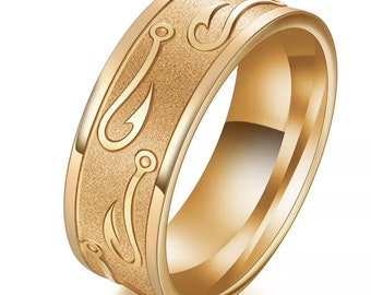 Gold stainless steel rings