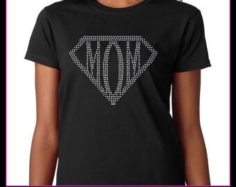 Supermom Rhinestone t-shirt