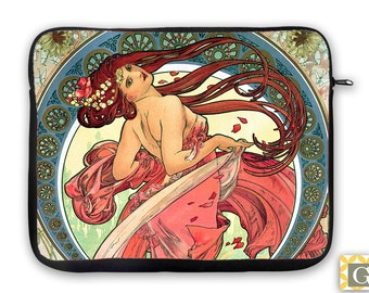 Art Nouveau Deco iPad Case, Laptop Bag, Laptop Sleeve, Laptop Case, iPad Sleeve, MacBook Case, Tablet Case - Deco Dancer