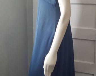 Vintage 1980's Slate Blue Peignoir * Negligee * Boudoir