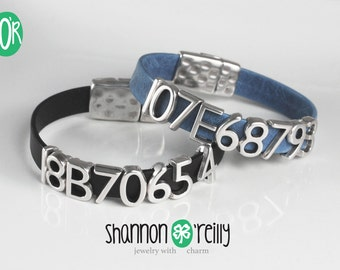 Greyhound Tattoo Leather Bracelet Snap Closure Choice of Color - Made to Order