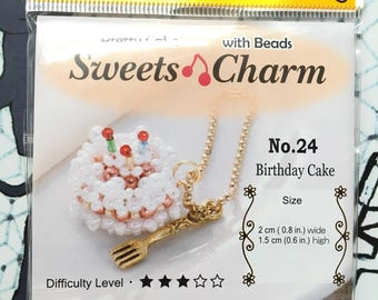 Cute Birthday Cake Carm Bead Kit by Miyuki