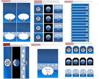 Submarine Party Printables - digital file instant download