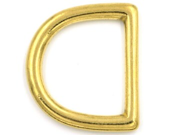 "1"" solid brass D ring (min. order size - please read description)"