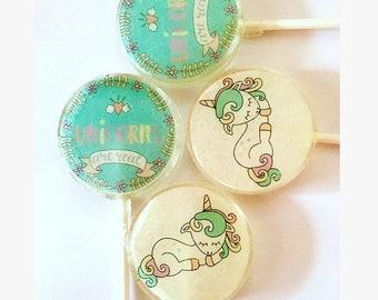 Unicorns Are Real Lollipops-Hard Candy Lollipops- Birthday- Baby shower-Spring-Unicorns-