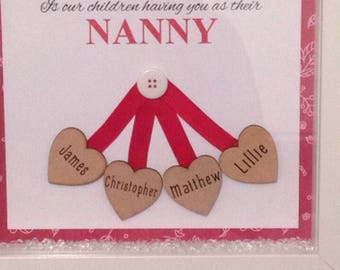 Personalised Mother's Day frame, nanny frame, gifts for mums, gift for nannies, frames for mum, mums birthday present, christmas present