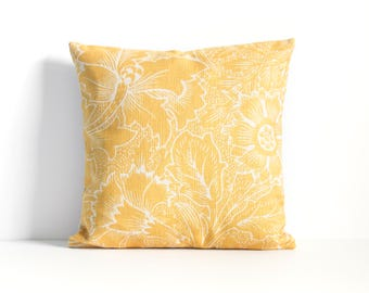 Yellow Pillow Cover, Yellow Throw Pillow, Decorative Pillow Cover, Cushion CoverChristmas Gift Idea, Christmas Gift Idea