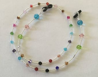 Sparkly crystal bead spectacle/glasses chain