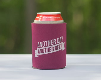 Funny beer can cooler - Another Day Another Beer - home brew stocking stuffer