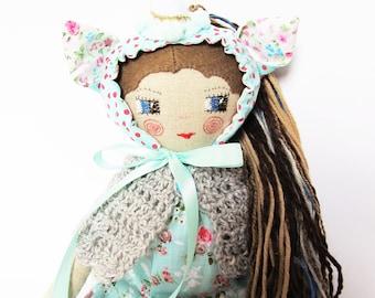 Unicorn doll, Rag doll, Unicorn, Heirloom doll, Textile doll, Fabric doll unicorn, Handmade cloth doll, Montessori toy, Unicorn toy ragdoll