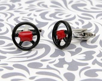Steering Wheel Gamepad Cufflinks Race