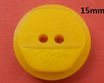 10 buttons 15 mm yellow (4685) button