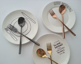 Stainless Steel Knife / Stainless Steel Spoon / Stainless Steel Fork / Stainless Steel Tableware / Kitchenware / Food Photography