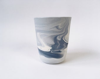 TUMBLER/CUP. Blue Marbled. Ceramic/pottery Drinkware. Vessels (Ready to Ship)