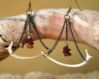 Journey Real Bone Earrings