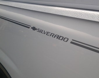 Chevy Bowtie + Silverado Pin Stripe Insert Decals Your choice of color