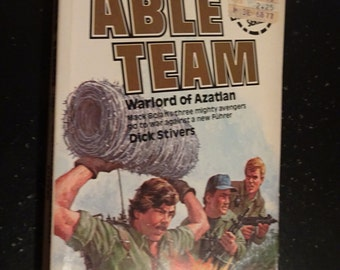 Able Team * Warlord of Azatlan * MACK BOLAN EXECUTIONER Series * Heroic Action * Dick Stivers * First Edition 1983 Gold Eagle Paperback Book