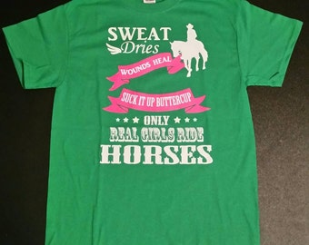 Real Girls Ride Horses, Cowgirl T-shirt