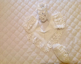 Baby Bib and Bootie Set