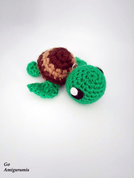 Tortuga amigurumi Toruga crochet Tortuga llavero animal