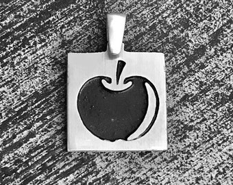 925 Sterling Silver Apple Charm/Pendant