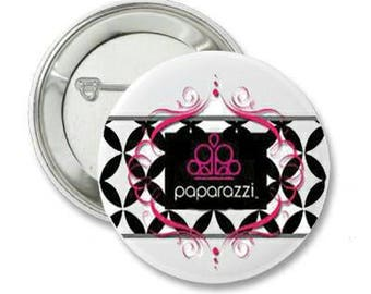 2.25 Inch Pin Back Button - Paparazzi, DS Company - FREE SHIPPING