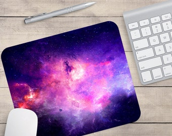 Pink Galaxy Mouse Pad, Outer Space Mouse Pad, Galaxy Mouse Pad, Galaxy Coaster, Pink Galaxy Coaster (0062)