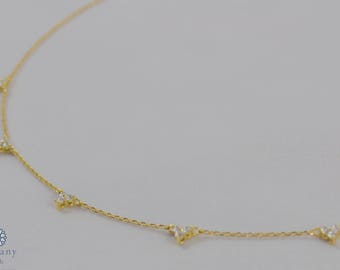 Smart Zirconia -Gold Plated Sterling Silver 925