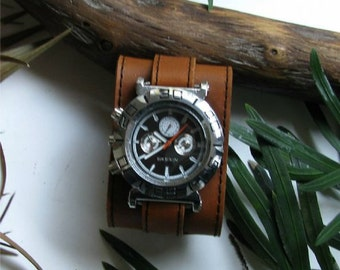 Watch band genuine leather replacement watch band for men