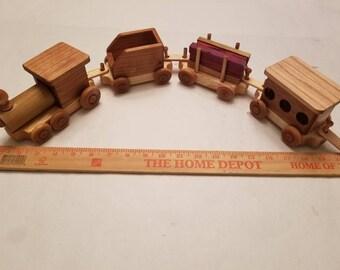 Train - Custom Handmade Wooden Train Set