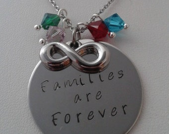 Families are Forever, birthstone necklace