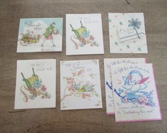 7 LOT greeting cards - miniature little gift cards BUZZA Minneapolis USA 5 h 6435 317 6851 6854 6435 6805 6435 317 (2 of this one)