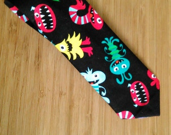 Little Monster Necktie for Boys. Boys Tie. Necktie for children