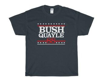 George H W Bush Shirt - President Bush T-Shirt - Retro Political Shirts -  Bush Quayle 88 Tshirt