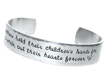 Personalized Cuff - Aluminum Cuff Bracelet - Hand Stamped Jewelry