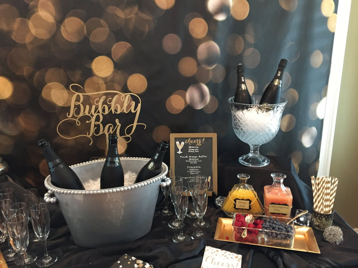Bubbly Bar, Bubbly Sign, Champagne Table, Bar Sign, Mimosa Bar ...