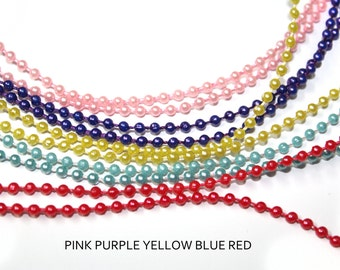 5 YARDS Ball Chain Necklaces - bulk chains for pendants, jewelry supply.
