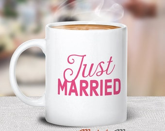 Just Married, Wedding Gift, For The New Wife & Groom, Groom Gift, Bride Gift, Perfect Wedding Present, His And Hers, Just Married Gift