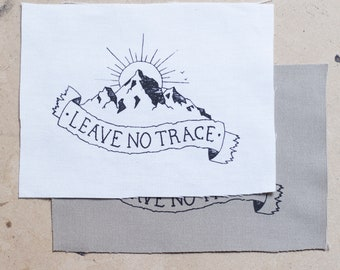 Leave No Trace Mountains Fabric Patch