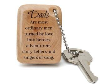 Personalized keychain for dad, Custom keychain for dad - Quote keychain