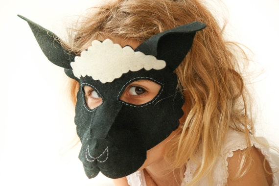 sc 1 st  Etsy & Kids Black Sheep Mask PATTERN. Digital Sheep Costume Pattern