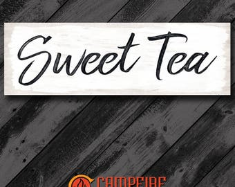 Sweet Tea Wood Sign - Kitchen Sign - Farmhouse Sign - Rustic Sign - Country Decor - Perfect Gift