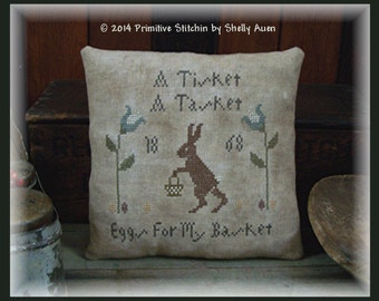 A Tisket A Tasket Primitive Easter Pillow Tuck E Pattern PDF