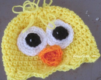 Crochet Baby Chick Hat