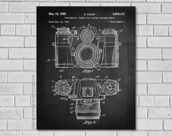 Photographic Camera Patent Print - Camera Patent - Camera Decor - Camera Blueprint - Camera Print - Camera - Camera Art - Patentprint TC411