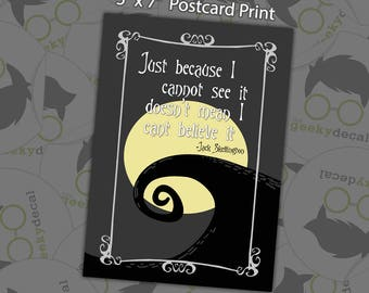Postcard Print - Nightmare Quote - 5x7